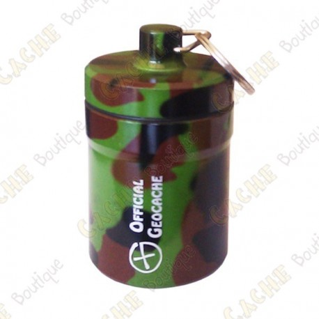 "Huge micro cache ""Official Geocache"" 8 cm - Camo"