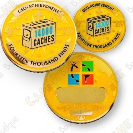 Geo Achievement® 14 000 Finds - Coin + Pin's