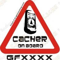 "Trackable ""Cacher opn board"" sticker"