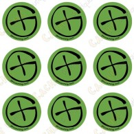 "Sticker Geo ""Round X-Small"" - Lote de 9"