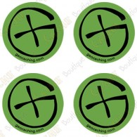 "Sticker Geo ""Round Small"" - Pack of 4"