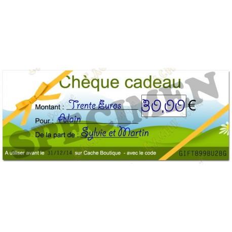 Chèque cadeau - Valeur 30€