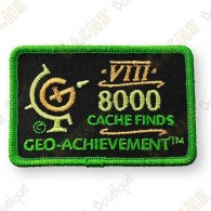 Geo Achievement® 8000 Finds - Parche