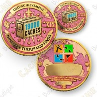 Geo Achievement® 19 000 Finds - Coin + Pin