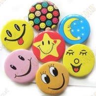 """Smile & co"" button X 10"