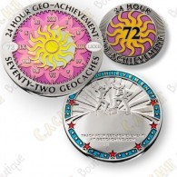 Geo Achievement® 24 Hours 72 Caches - Coin + Pin