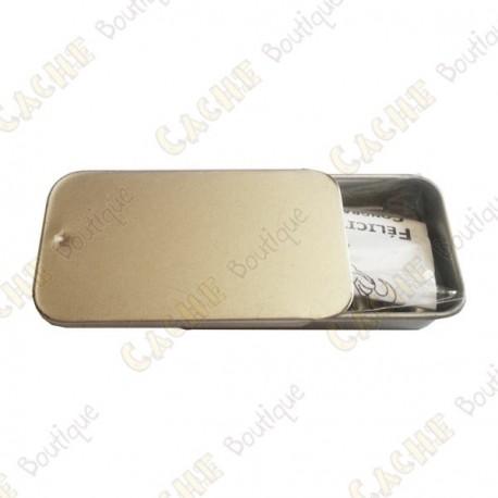 """Cache """"Tin"""" magnética - Micro retângulo"""