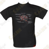 "T-Shirt ""Geo Brain"" for men - Black"