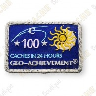 Geo Achievement® 24 Hours 100 Caches - Patch