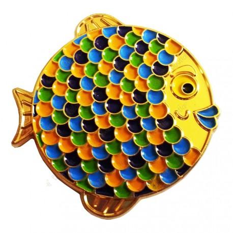 """Géocoin """"Rainbow Fish"""" - Sunny Gold LE"""