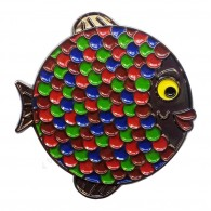 "Géocoin ""Rainbow Fish"" - Coral Black Nickel LE"