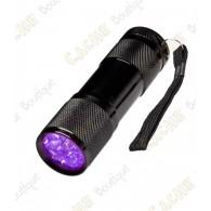 Lampe UV à 9 LED (lumière ultra violette).