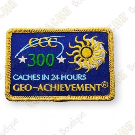 Geo Achievement® 24 Hours 300 Caches - Parche