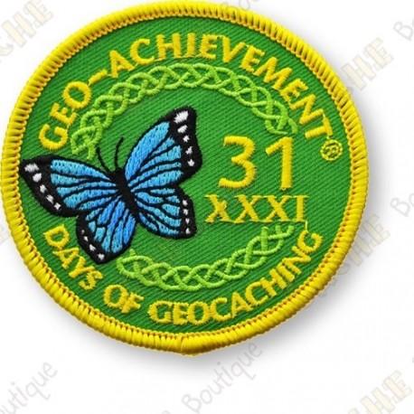 Geo Achievement® 31 Days of Geocaching - Patch