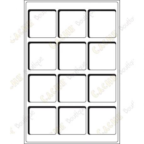 Bandeja L para geocoins 66 x 66 mm - 12 cajas