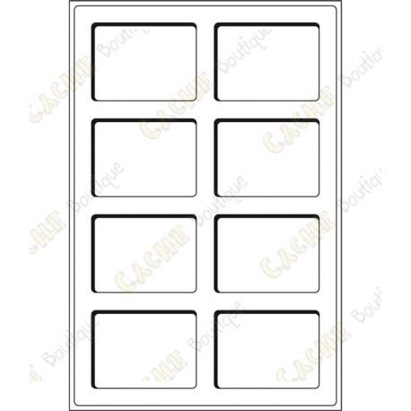 Geocoin tray L 64 x 86 mm - 8 fields