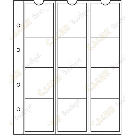 Pocket sheet for NUMIS album - 44 mm