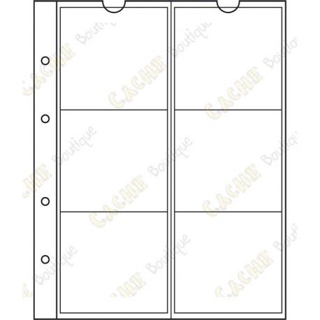 Pocket sheet for NUMIS album - 55 mm