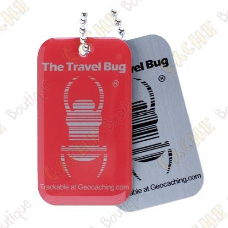 Travel bug QR - Rouge