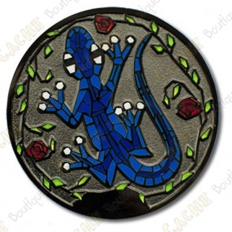 "Geocoin ""Gecko"" - Blue Glow in the dark"