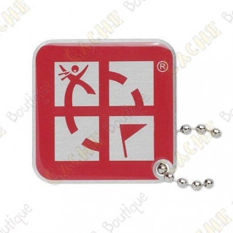 Traveler Logo Geocaching - Rojo