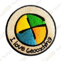 Patch geocaching com logotipo geocaching.