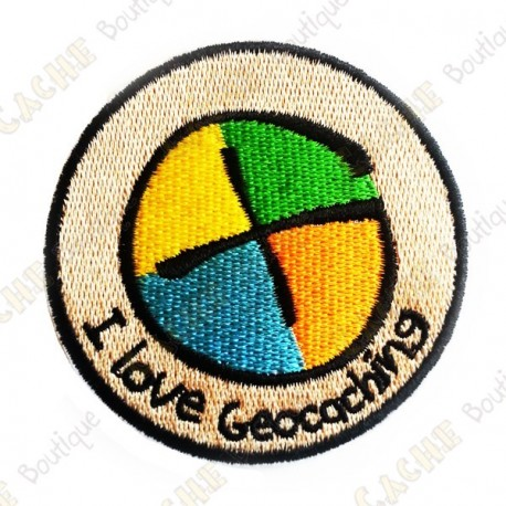 "Parche ""I love Geocaching"""
