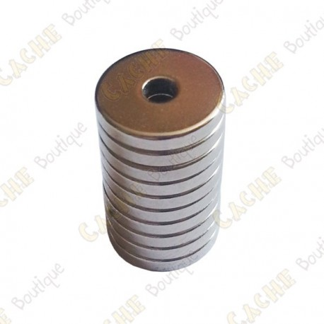 Neodynium ring magnets 12x3x2mm - Pack of 5