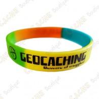 Pulsera de silicona Geocaching - Color