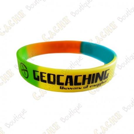 Pulseira de silicone Geocaching crianças - Colorido