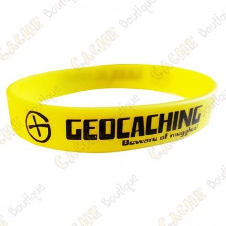 Geocaching silicone wristband - Yellow