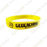 Bracelet silicone Geocaching Enfants  - Jaune