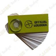 Pequeño logbook que se pone en los caches de tipo film canister.
