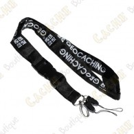 Groundspeak official lanyard - Black / White