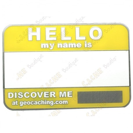 Name tag trackable - Amarelo
