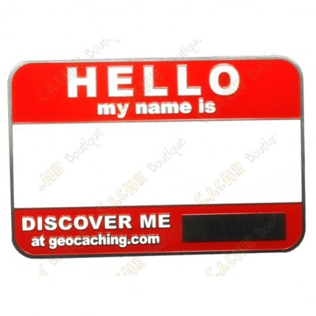 Name tag sans code - Rouge