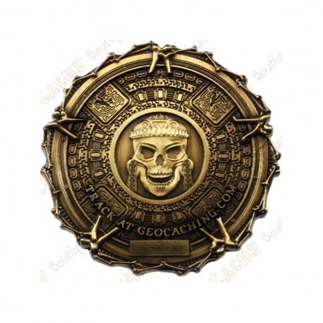 "Géocoin ""Pirate Bones"" - Antique Gold"