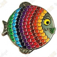 "Geocoin ""Rainbow Fish"" V2 - Spectrum Black Nickel LE"