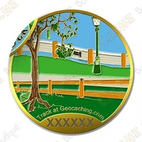 "Geocoin ""The Maker - Geocache Hider"""