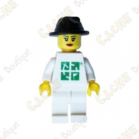 Figura Mujer LEGO™ trackable - Sombrero negro