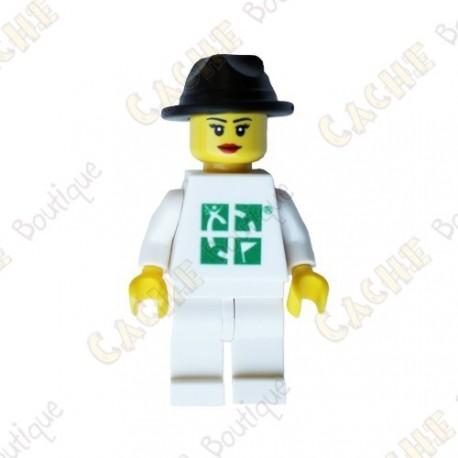 Trackable Woman LEGO™ figure - Black hat
