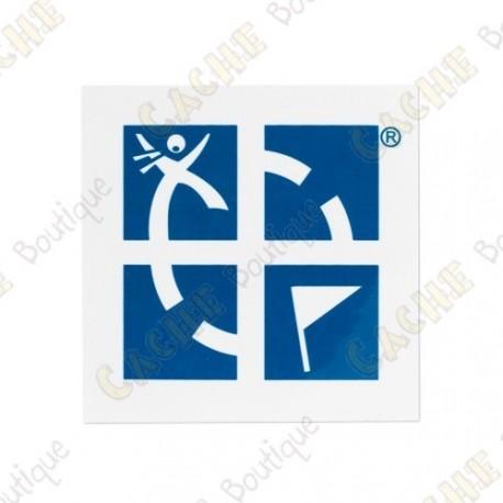 Grand sticker Groundspeak - Bleu