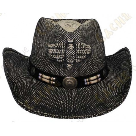"Chapeau ""Texas"" - Noir/Marron"