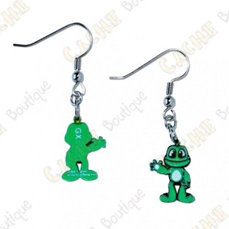 Boucles d'oreilles trackables Signal the Frog
