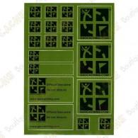 Sheet of stickers Geocaching - Green