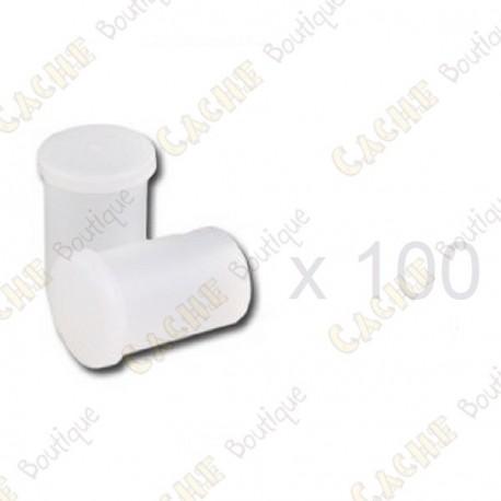 Mega-Pack - Film canister white x 100