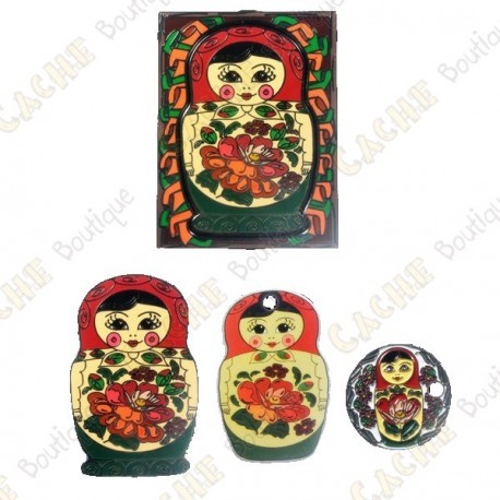 "Géocoin ""Matryoshka Doll"" - Rouge"