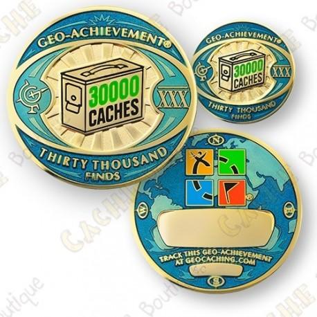 Geo Achievement® 30 000 Finds - Coin + Pin's