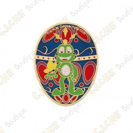 """Geocoin """"Signal the Frog®"""" - Gold Egg"""