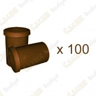 Mega-Pack - Film canister brown x 100